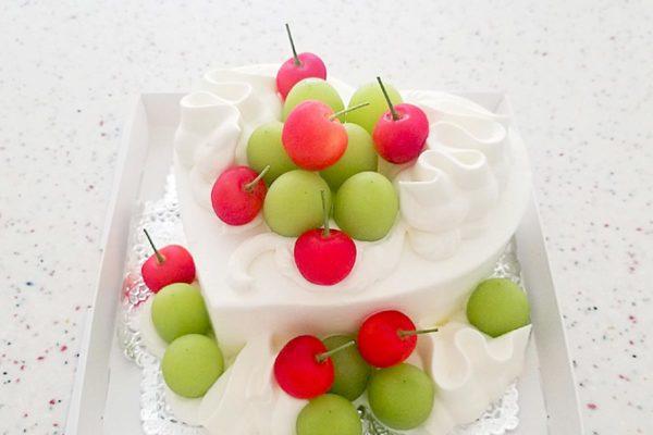 夏のハートケーキ