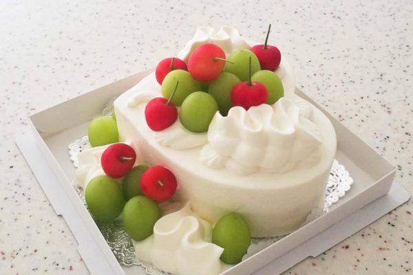 夏のハートケーキ 6号
